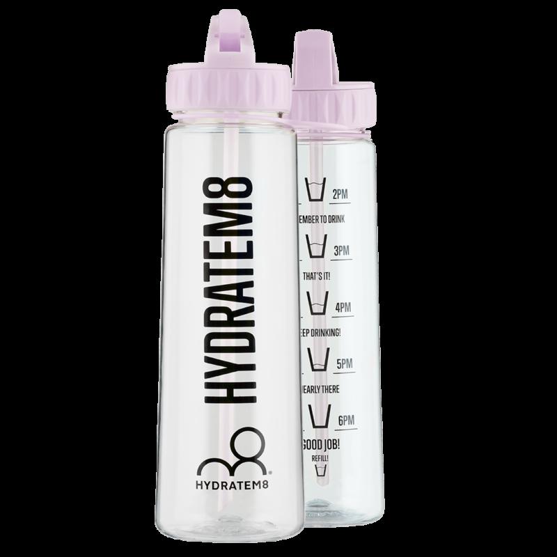 2d1930210e Lilac 900ml Hydration Tracker Water Bottle - HydrateM8