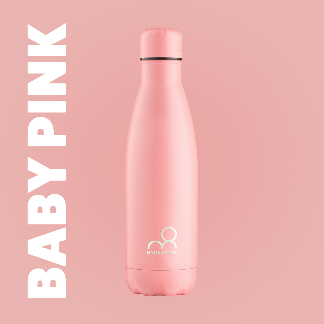 BABY PINK INSULATED WATER BOTTLE