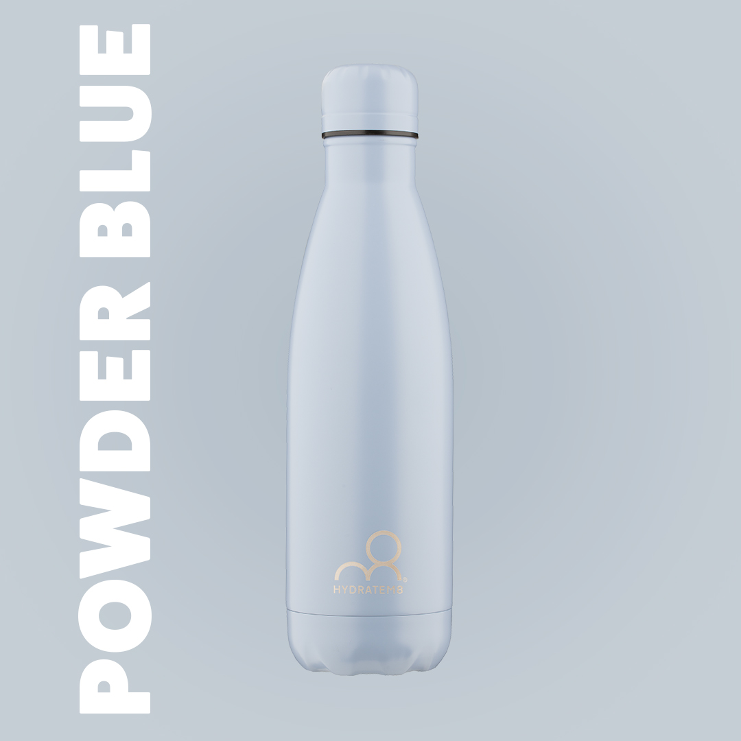 POWDER BLUE INSULATED WATER BOTTLE